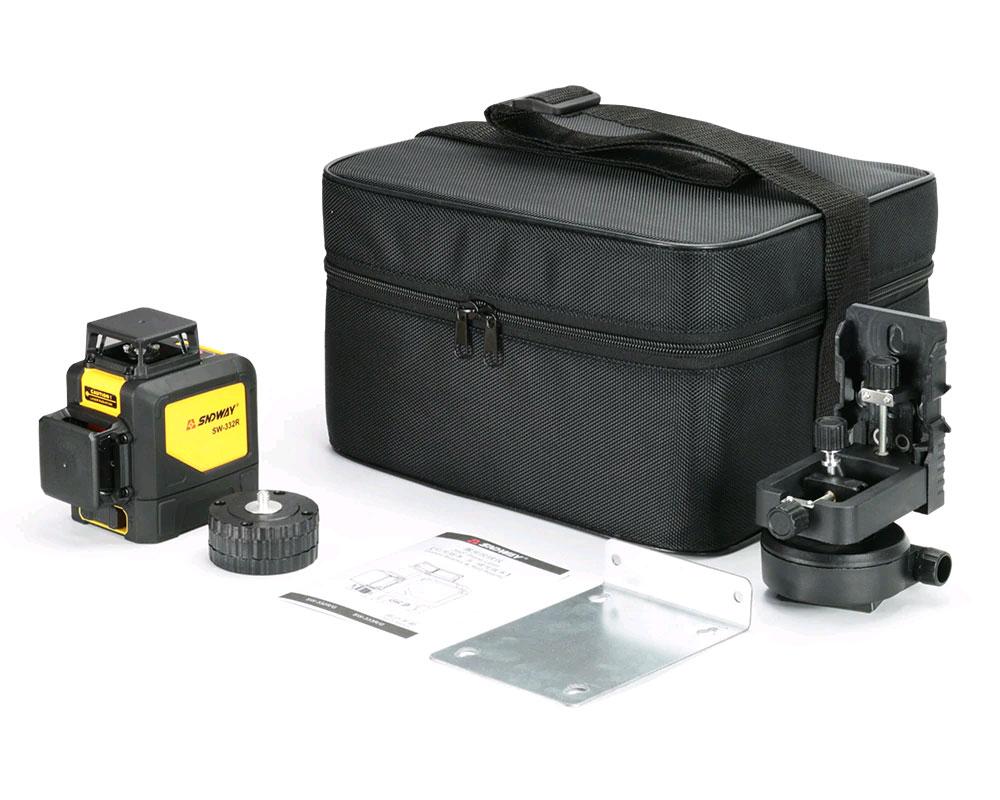 Стандартная комплектация лазерного уровня SW-332R SNDWAY