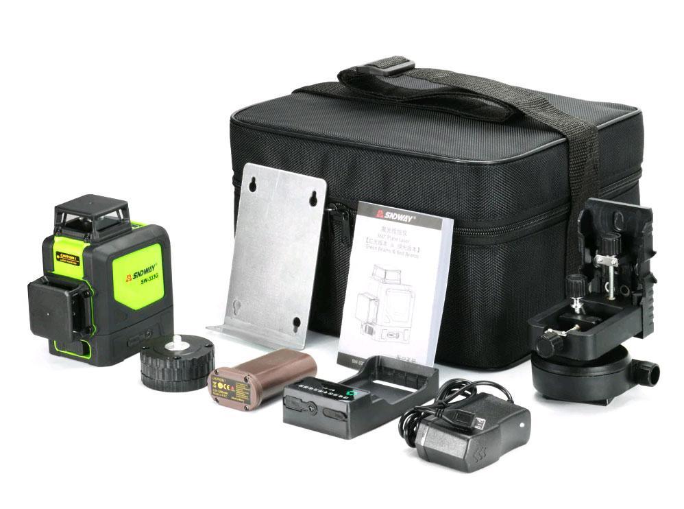 Стандартная комплектация лазерного уровня SW-333G SNDWAY