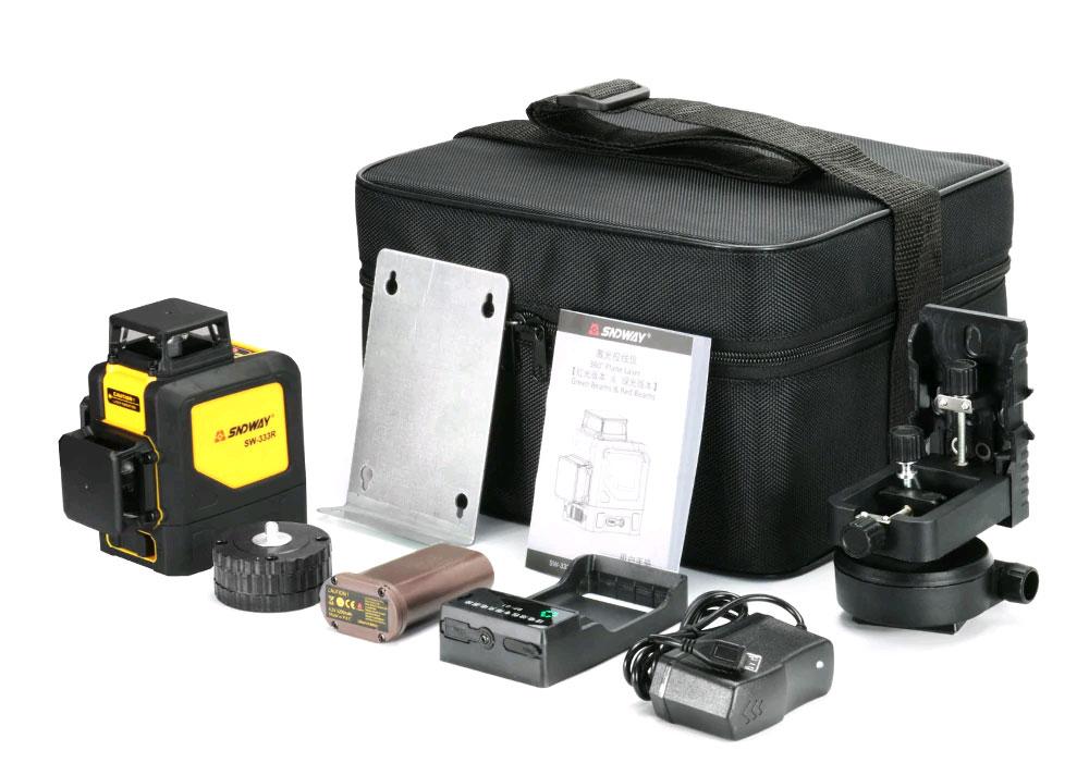 Стандартная комплектация лазерного уровня SW-333R SNDWAY