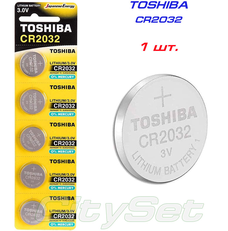 TOSHIBA  батарейка CR2032, батарейка 3 В: 1 шт