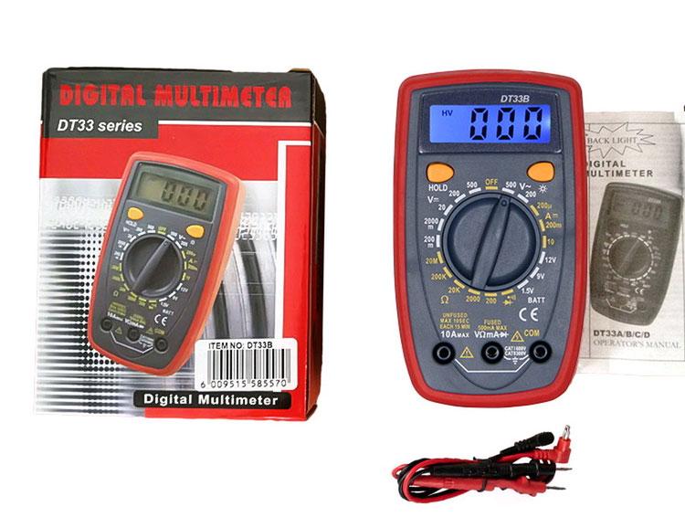 Стандартная комплектация мультиметра DT33B