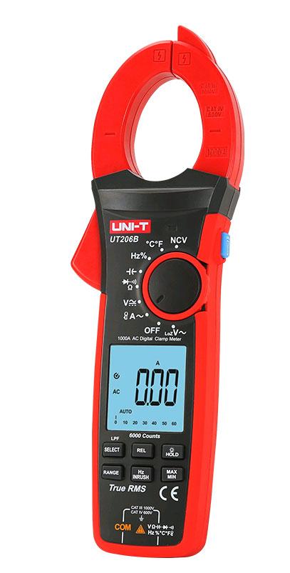 токовые клещи UT206B UNI-T: обладают высокими техническими характеристиками и качеством