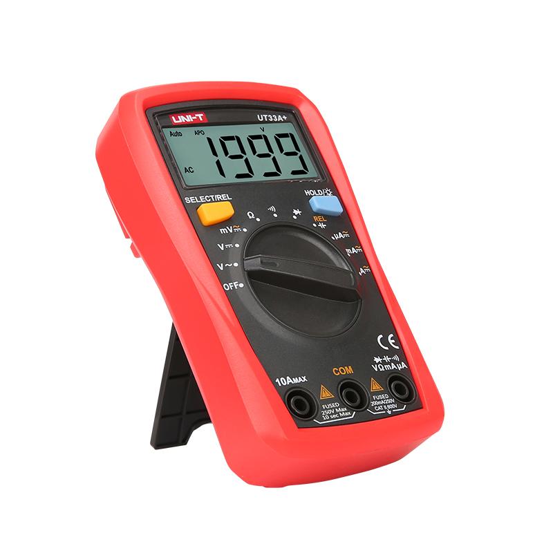 мультиметр UT33A+: с автоматическим выбором диапазона измерений