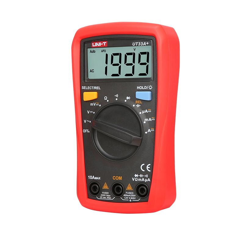 мультиметр UT33A+: питание 2шт. х AAA, 1.5 V