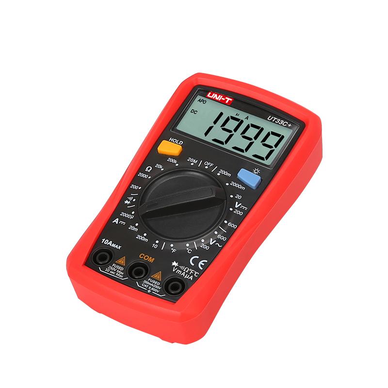 мультиметр UT33C+: питание 2шт. х AAA, 1.5 V