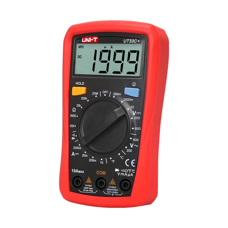 мультиметр UT33C+: с автоматическим выбором диапазона измерений