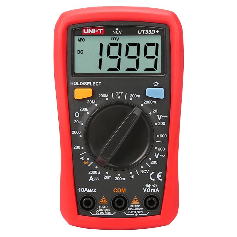 мультиметр UT33D+: питание 2шт. х AAA, 1.5 V