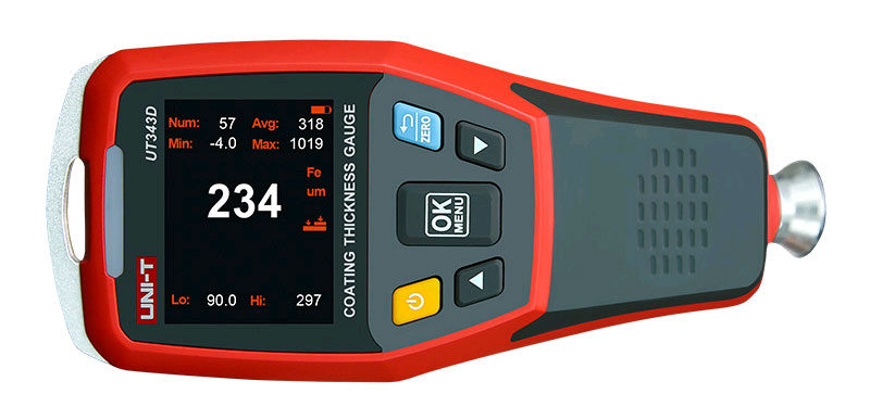 UT343D тестер краски: функция переворота дисплея для удобства измерения