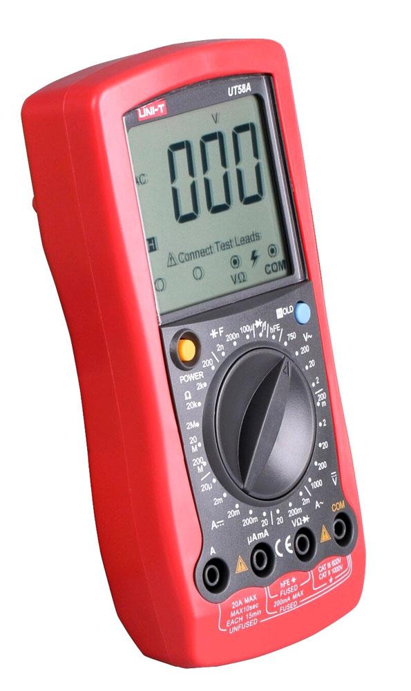 Стандартная комплектация мультиметра UT58A