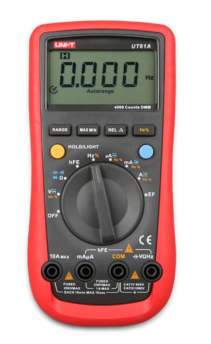 UT61A UNI-T: внешний вид цифрового мультиметра