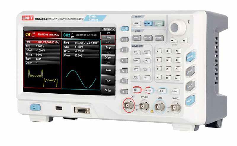 Назначение функциональных кнопок генератора UTG4082A