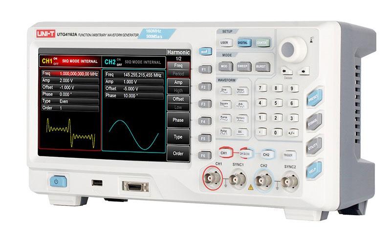 Назначение функциональных кнопок генератора UTG4162A